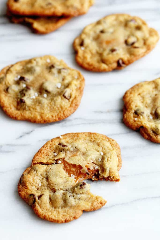Salted Caramel Chocolate Chip Cookies - Grandbaby Cakes