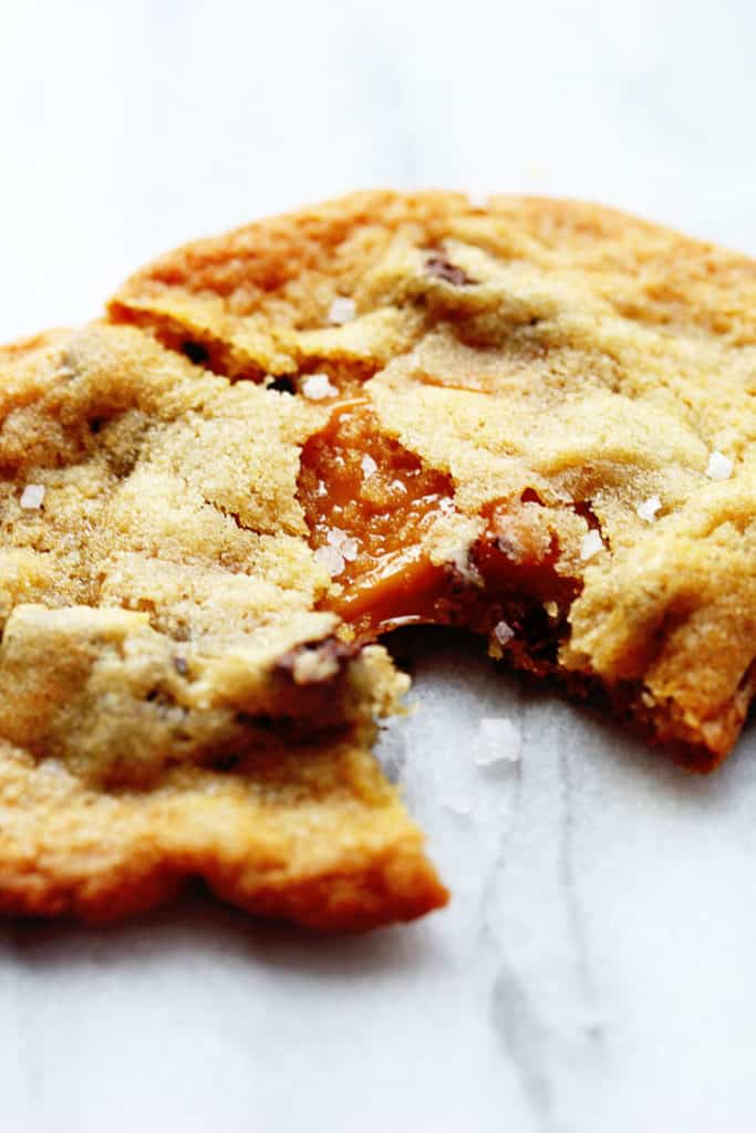 Salted Caramel Chocolate Chip Cookies Recipe — Dishmaps