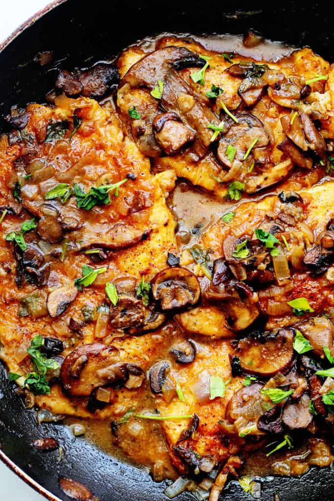Skinny Chicken Marsala Recipe (or Healthy Chicken Marsala Recipe) | Grandbaby Cakes