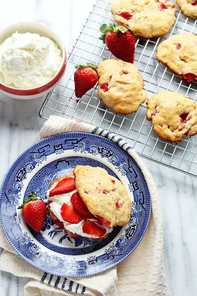 Strawberry Shortcakes with Strawberry Biscuits 2 683x1024 - Strawberry Shortcakes with Strawberry Biscuits