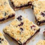 Blueberry Crumble Bars | Grandbaby Cakes