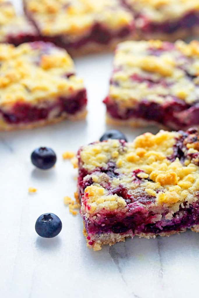 blueberry crumble bars 2 683x1024 - Blueberry Crumble Bars