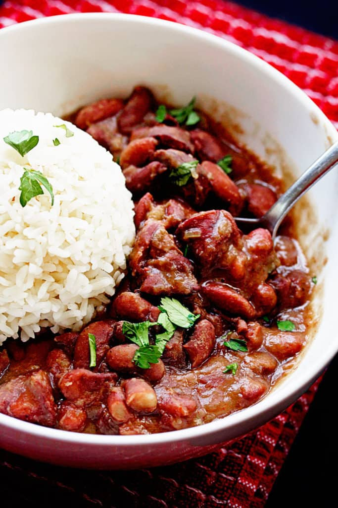 Cajun Red Beans and Rice - Grandbaby Cakes