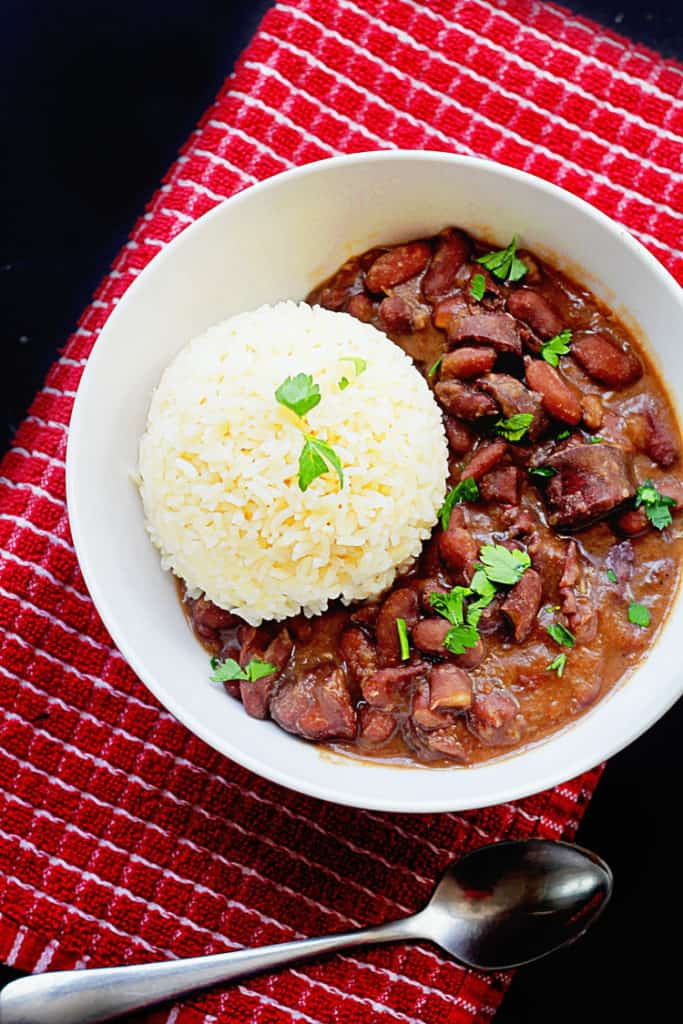 Cajun Red Beans and Rice | Grandbaby Cakes