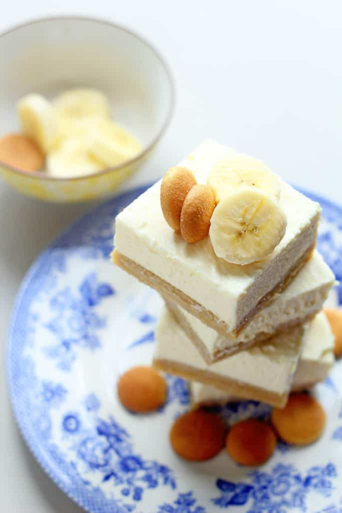 Banana Pudding Cheesecake Blondies | Grandbaby Cakes