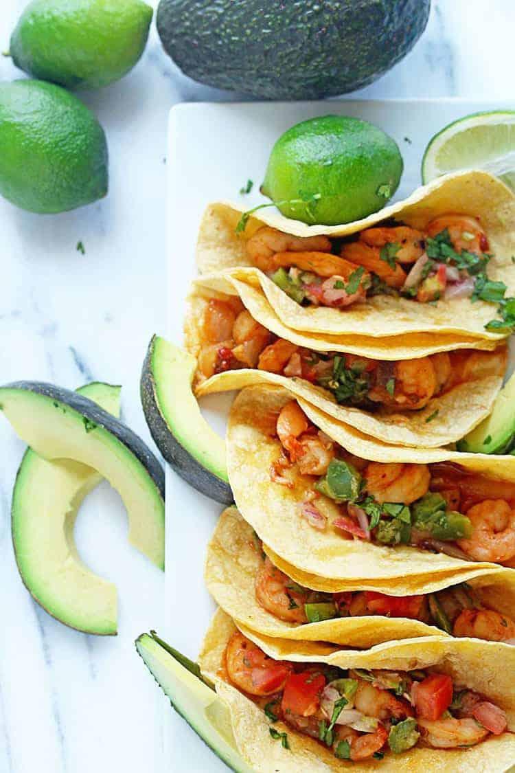 Chipotle Shrimp Tacos | Grandbaby Cakes