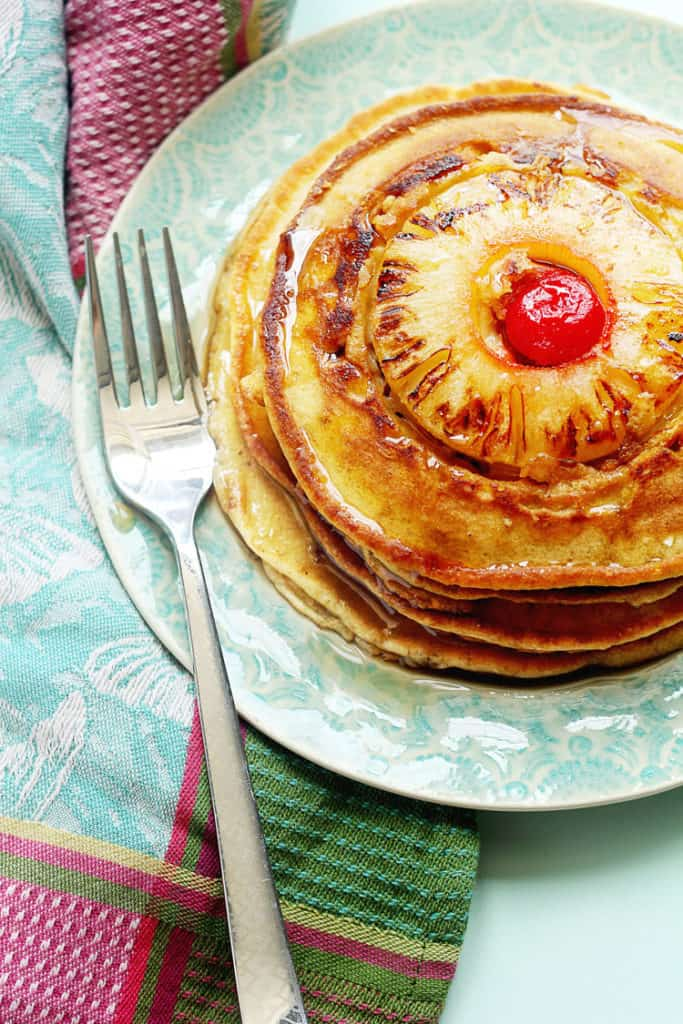 Pineapple Upside Down Pancakes | Grandbaby Cakes