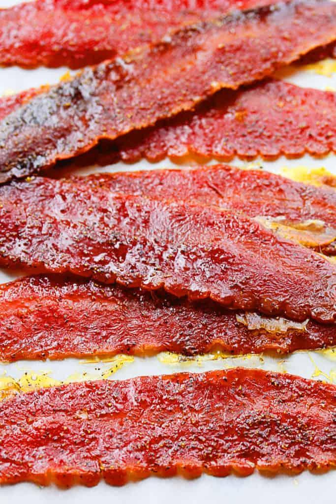 Brown Sugar Baked Turkey Bacon - Turkey Bacon