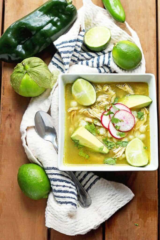 chicken pozole verde 2 683x1024 - Mexican Chicken Pozole Recipe (Pozole Verde)!