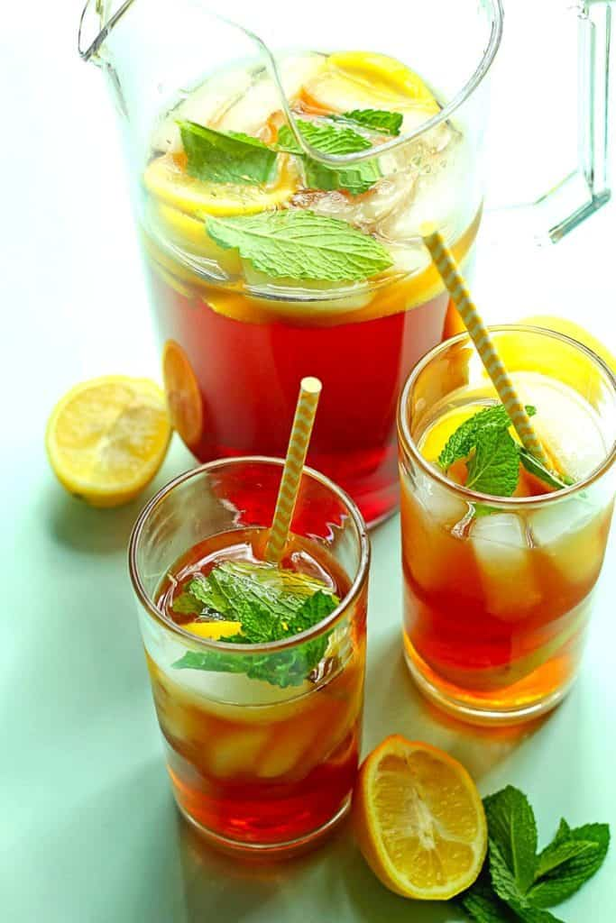 Southern Sweet Tea Recipe- A Southern Classic made deliciously refreshing and sweet with ease.  Sit on the porch with a tall cold glass and enjoy.
