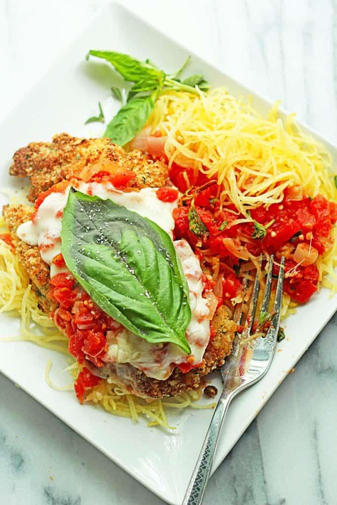 Baked Chicken Parmesan with Spaghetti Squash | Grandbaby Cakes