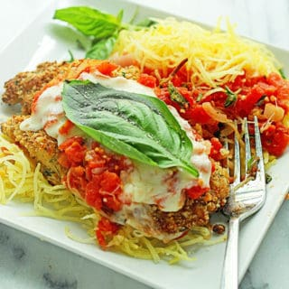 Baked Chicken Parmesan 2 320x320 - Healthy Baked Chicken Parmesan