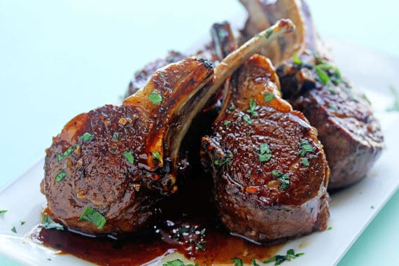 Balsamic Brown Sugar Lamb Chops 1 570x380 - Balsamic Brown Sugar Lamb Chops Recipe