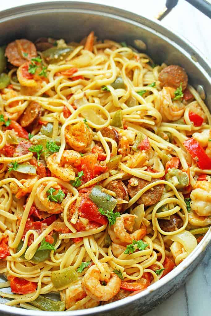 Cajun shrimp pasta recipe grandbaby cakes cajun shrimp pasta recipe forumfinder Images
