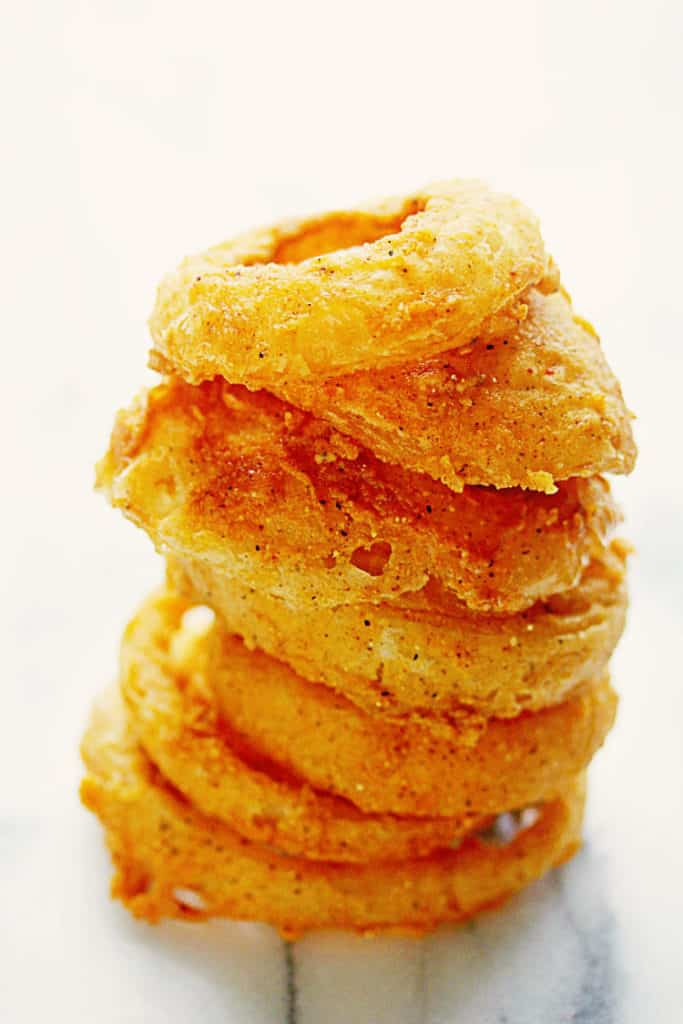 Crispy Fried Onion Rings 2 683x1024 - Fried Onion Rings (CRISPY AND DELISH!)