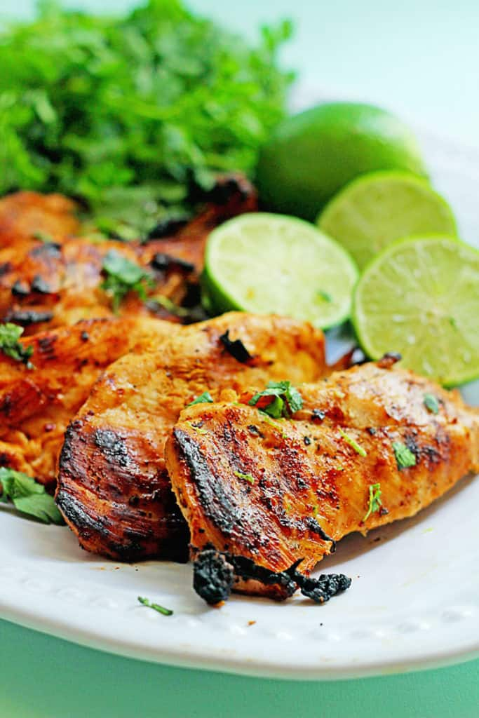 Close up of this Tequila Lime Chicken