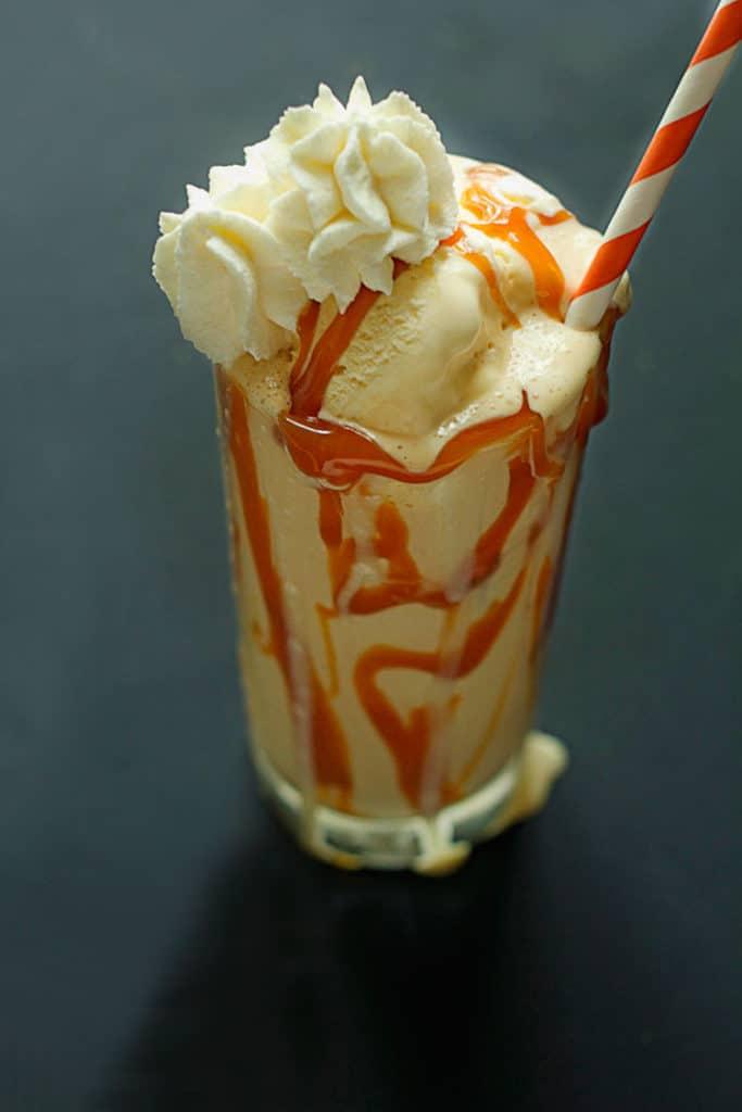 Caramel Bourbon Milkshake 2 683x1024 - Caramel Bourbon Milkshake with Cookie Butter