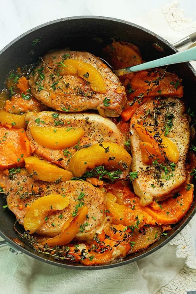 Maple Peach Pork Chops 1 683x1024 - Maple Peach Pork Chops
