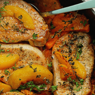 Maple Peach Pork Chops | Grandbaby Cakes