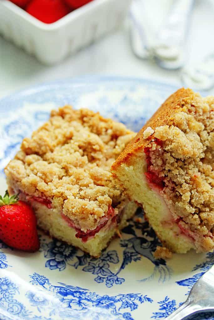 Strawberry Crumble Coffee Cake Recipe | Grandbaby Cakes