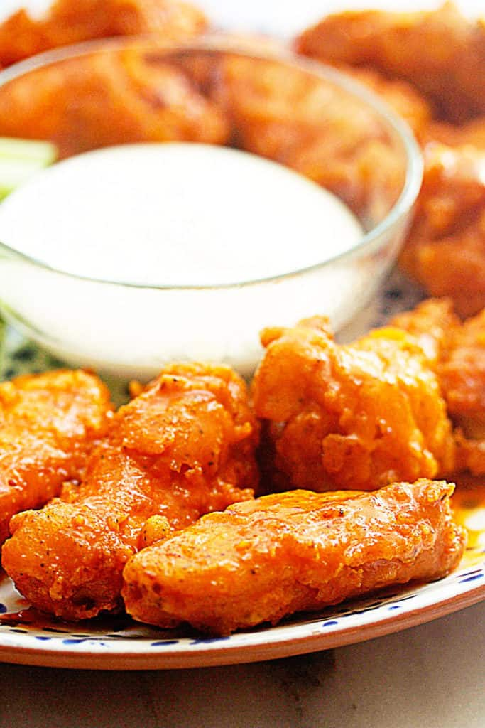 Crispy Buffalo Wings 4 683x1024 - The BEST Buffalo Wings (BETTER Than Hooters Wings)