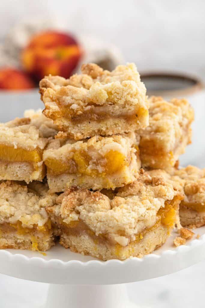 Peach Crumb Bars 3 683x1024 - Homemade Peach Crumb Bars Recipe