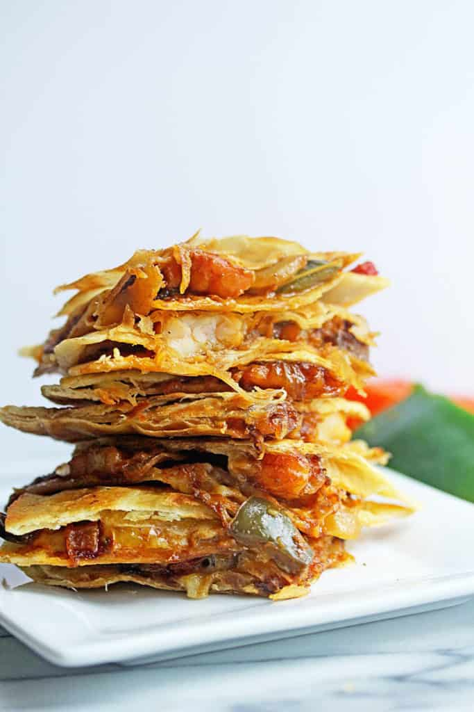 Shrimp Fajita Quesadillas 2 683x1024 - Shrimp Fajita Quesadillas