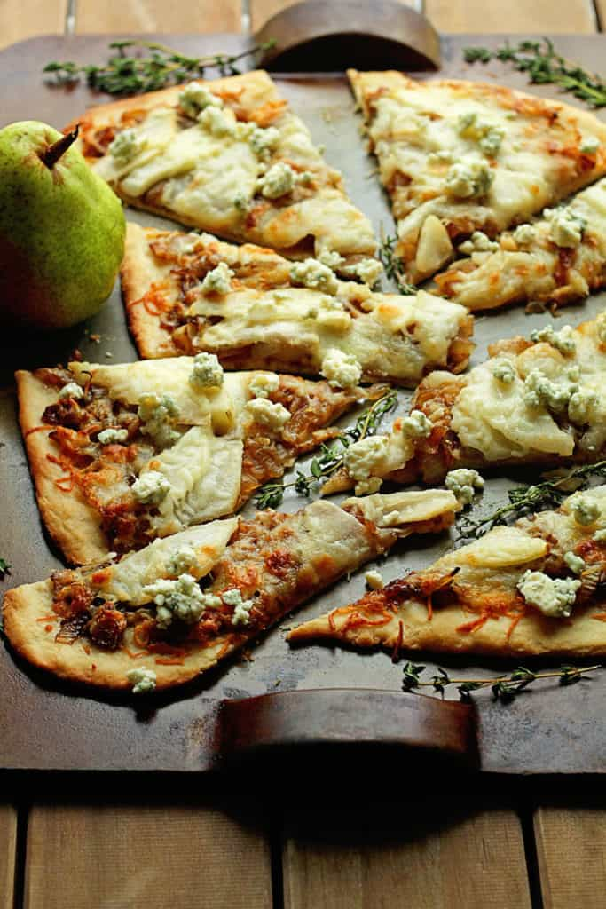 Cheesy Caramelized Pear Flatbread 1 683x1024 - Caramelized Pear Flatbread
