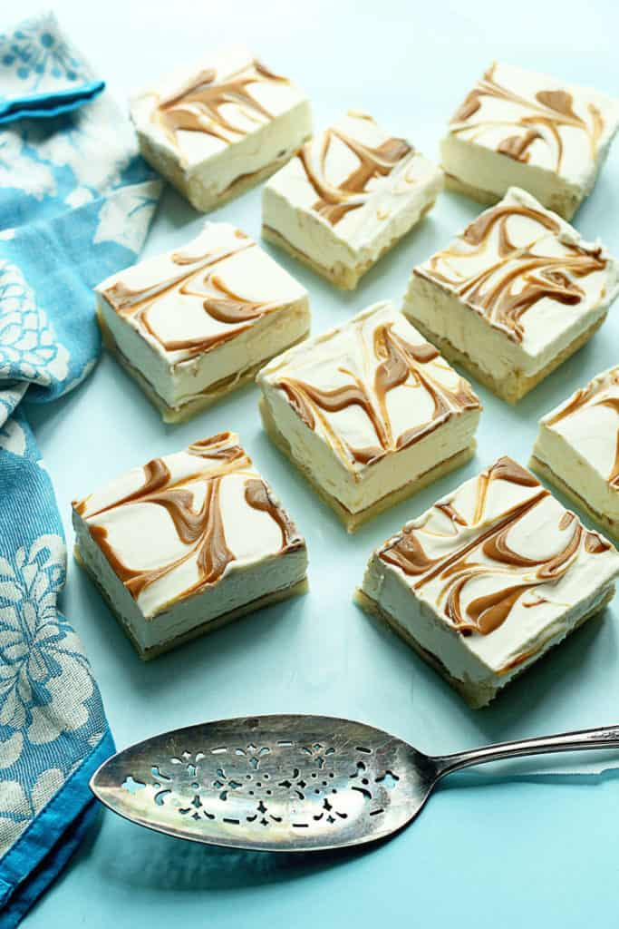 Cookie Cheesecake Swirl Bars | Grandbaby Cakes