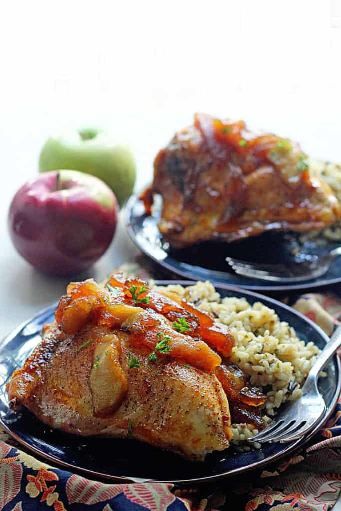 Apple Cider Glazed Chicken | Grandbaby Cakes