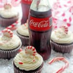 Coca Cola Chocolate Cupcakes with Peppermint Buttercream | Grandbaby Cakes