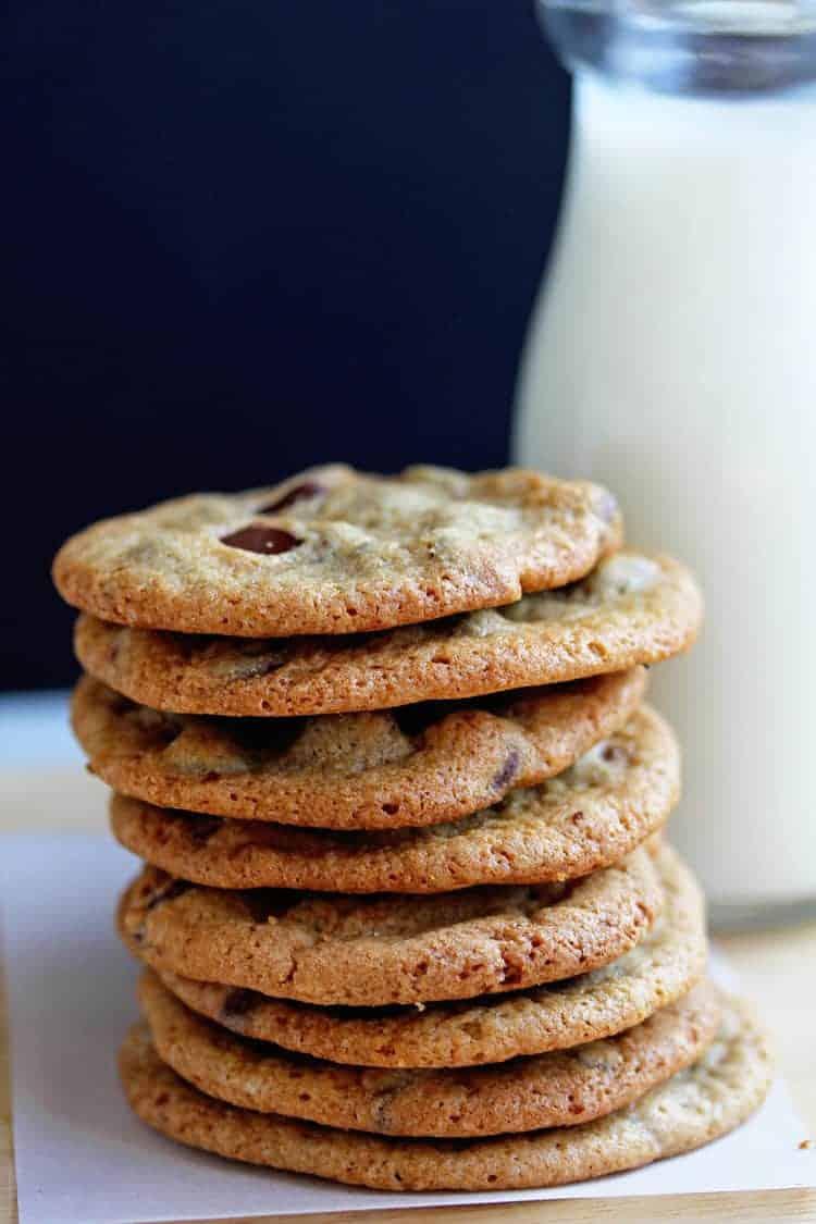 Crispy Chocolate Chip Cookies Recipe - Grandbaby Cakes