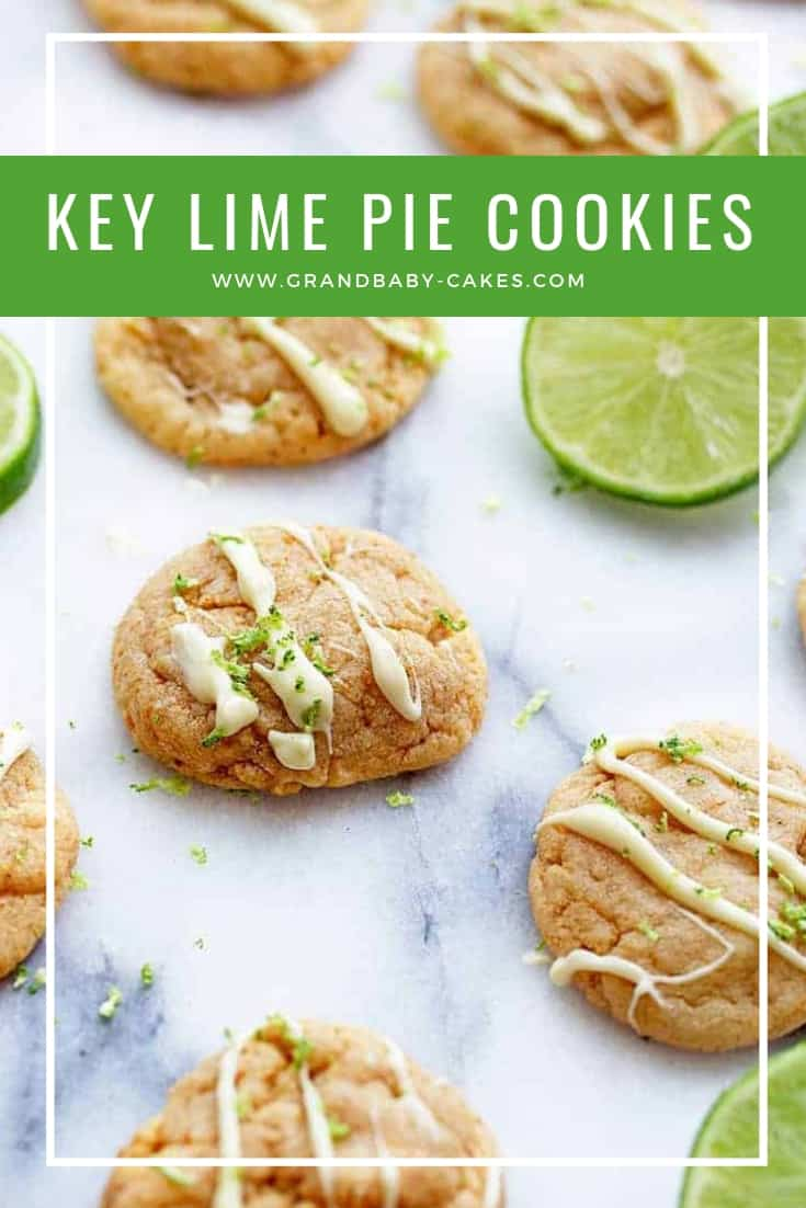 If you LOVE key lime pie, you will adore these key lime pie cookies that taste just like the pie! These soft and chewy delights have key lime juice, zest and even graham cracker crumbs!  Amazing! #pie #keylimepie #cookies
