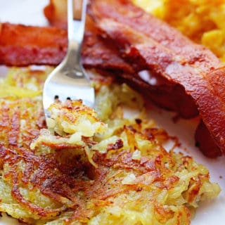 Perfect Hash Browns 2 320x320 - Best Hash Browns Recipe (Just like the diner)!