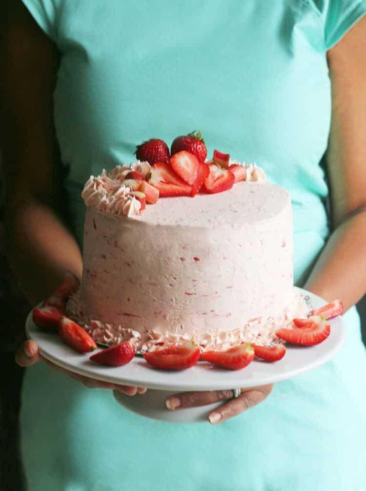 Riesling Rhubarb Crisp Cake 2 2 - Riesling Rhubarb Crisp Cake