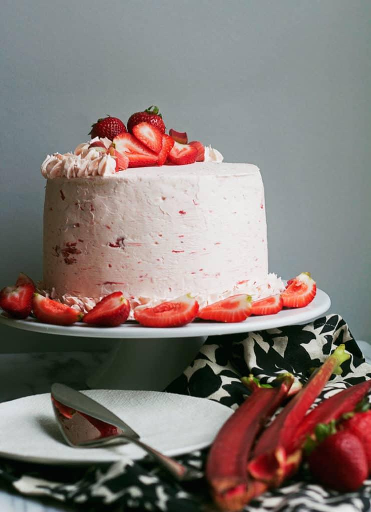 Riesling Rhubarb Crisp Cake 2 3 741x1024 - Riesling Rhubarb Crisp Cake