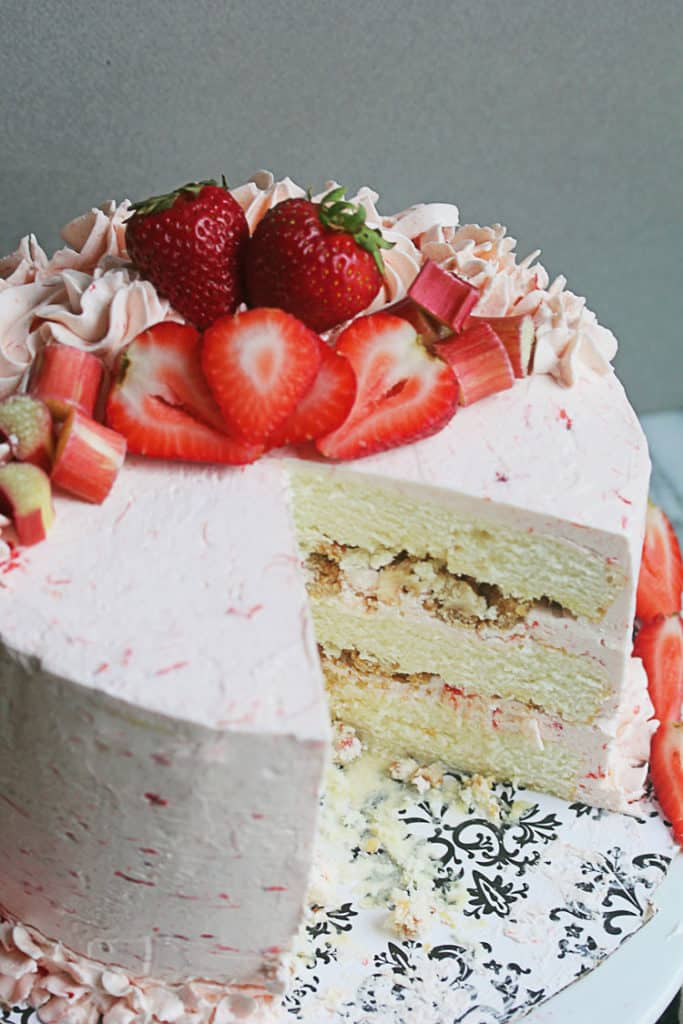 Riesling Rhubarb Crisp Cake 2 6 683x1024 - Riesling Rhubarb Crisp Cake