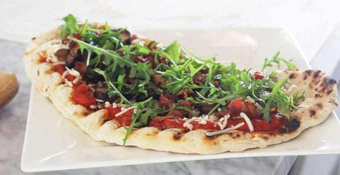 Homemade Flatbread Pizza Dough