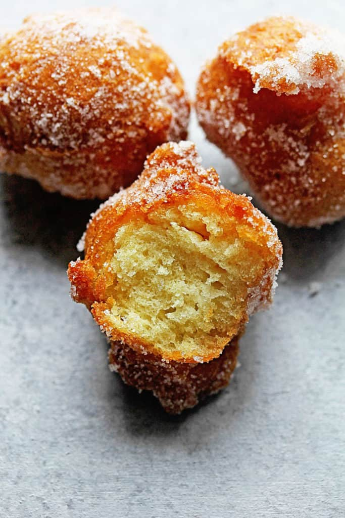 Castagnole (Italian Fried Dough Balls with Sugar) | Grandbaby Cakes
