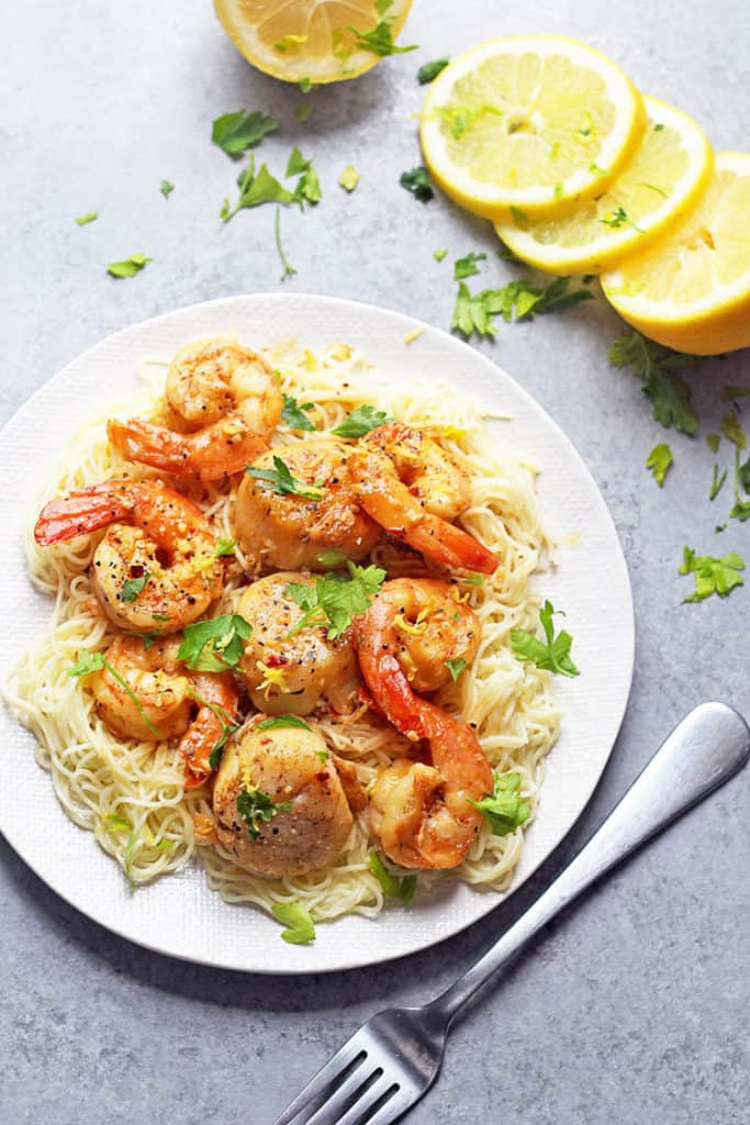 Scallop and Shrimp Scampi Recipe | Grandbaby Cakes