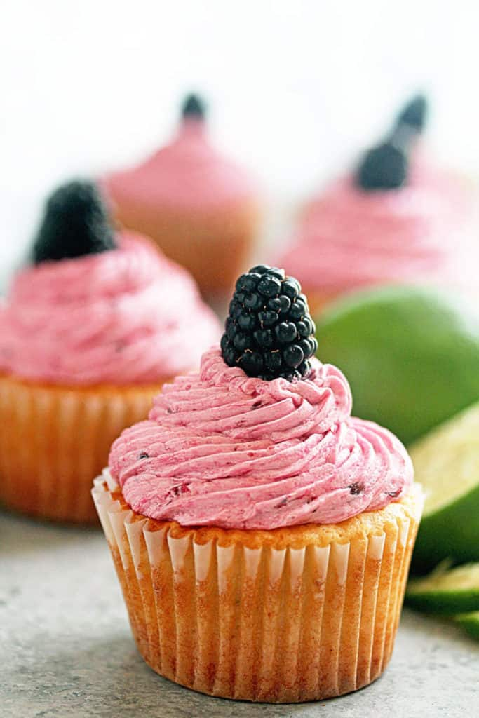 Blackberry Limeade Cupcakes - The perfect treat for Spring and Summer Entertaining! | Grandbaby Cakes
