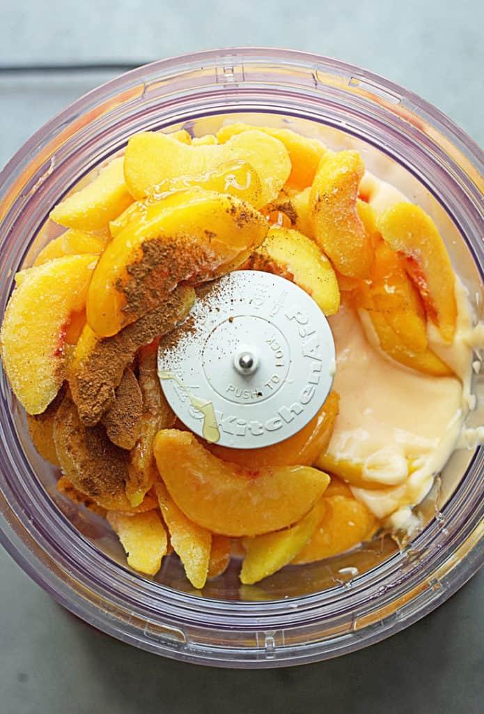 Easy Peach Frozen Yogurt | Grandbaby Cakes