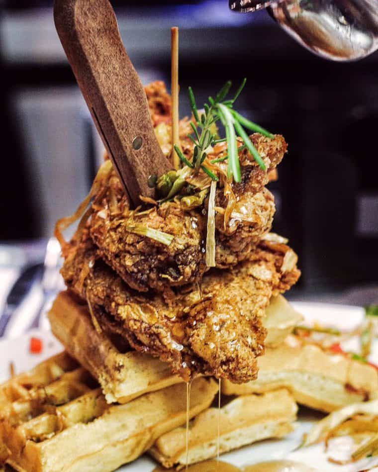 Hash House a Go Go Chicken and Waffles - What to do in Las Vegas | Grandbaby Cakes