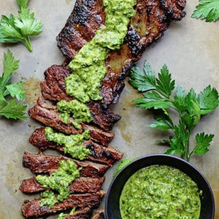 Skirt Steak Marinade with Chimichurri Recipe
