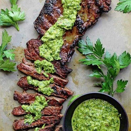 Skirt Steak Marinade Recipe with Chimichurri Recipe
