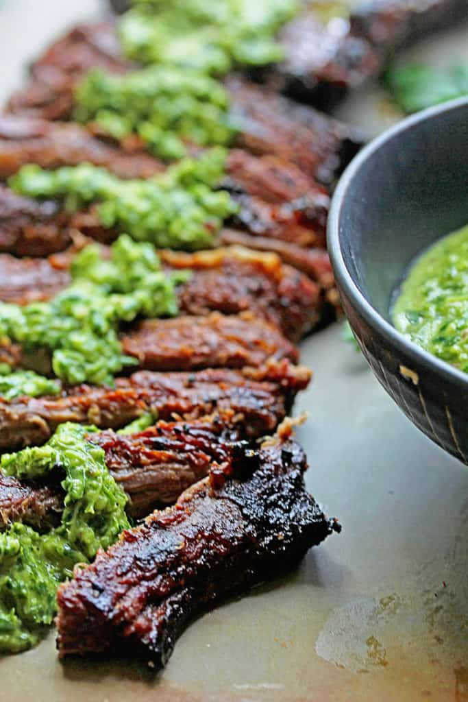 Skirt Steak Recipes - Adding Chimichurri to Flank Steak Recipe