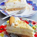 No Bake Banana Pudding Cheesecake with Banana Cream | Grandbaby Cakes