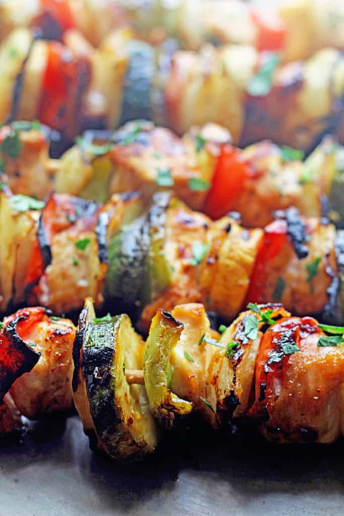 Grilled Apricot Chicken Kabobs - Grandbaby Cakes