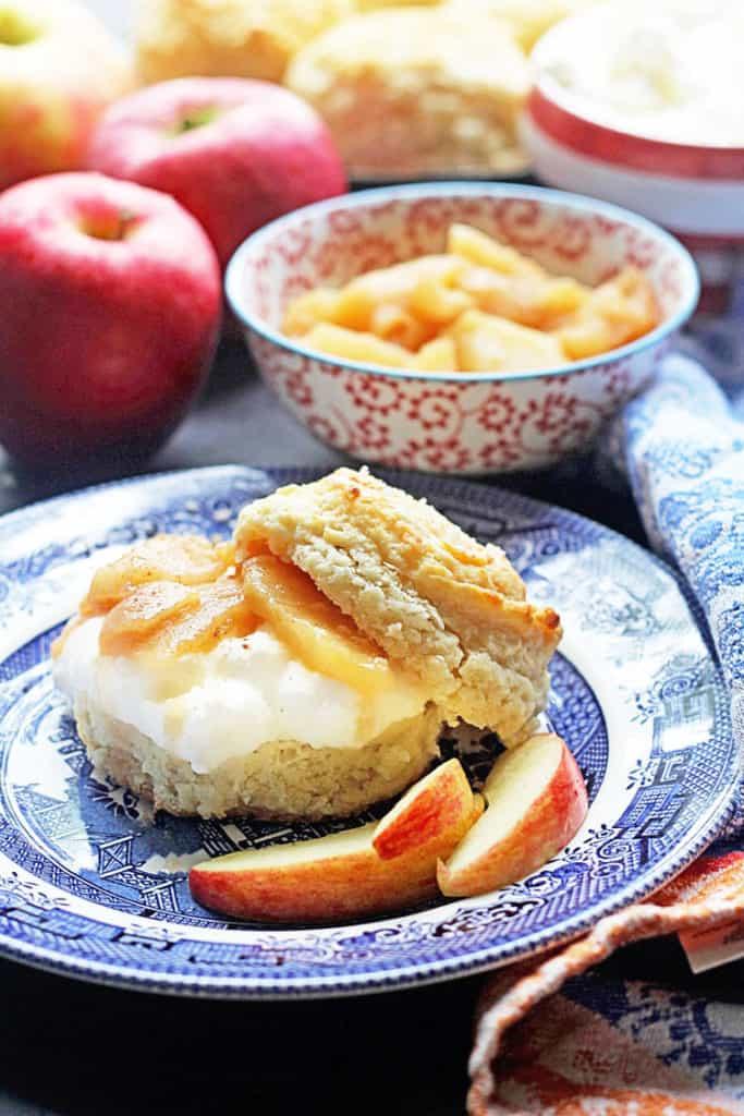 Brown Sugar Biscuit Apple Shortcakes   Grandbaby Cakes