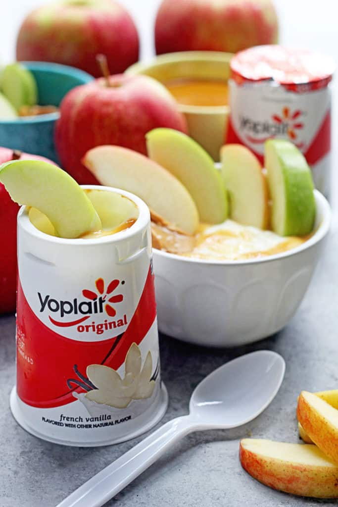 Caramel Peanut Butter Dips Made with Yoplait! | Grandbaby Cakes